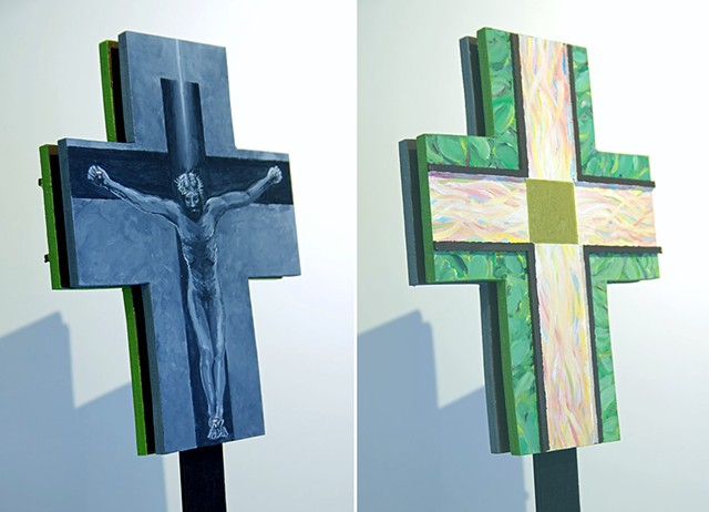 2 Sides of a Processional Cross