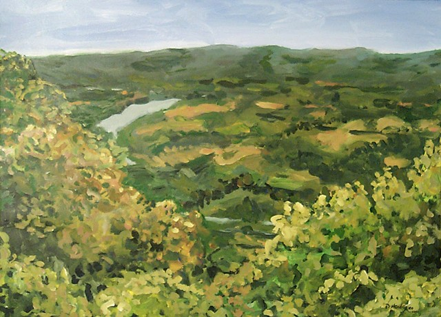 A landscape painting of the view from Veterans Overlook - Bean Station, TN.