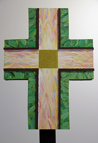 Resurrection: 2 sides of a Processional Cross