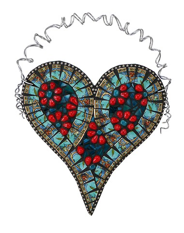 Teal and Red Heart by Chris Emmert