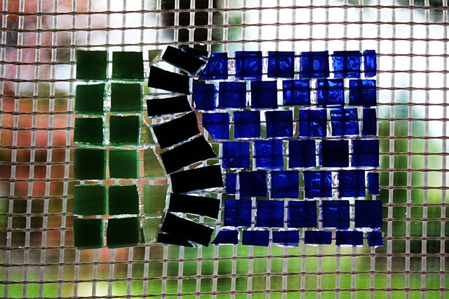 Working with Fiberglass Mosaic Mesh - 7