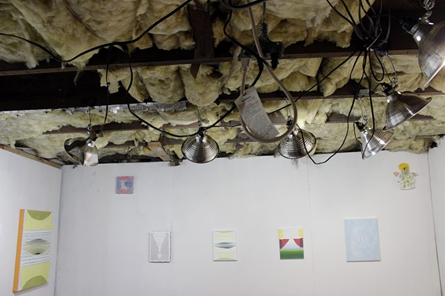 installation view of Paper Mind at the Bijan Ferdowsi Gallery Nashville, TN