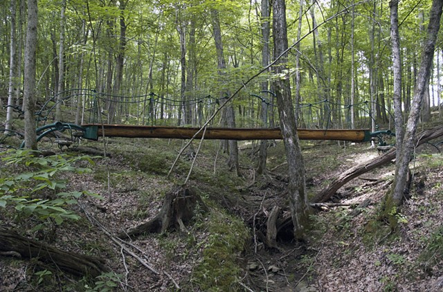sculpture bridge steven finke environmental art