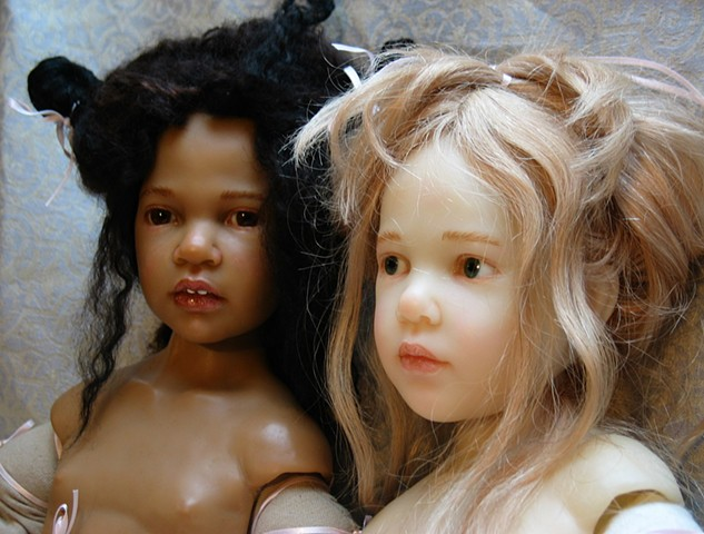 Two Artist Edition Resin Dolls