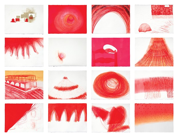 Carrie Scanga Red Process Drawings