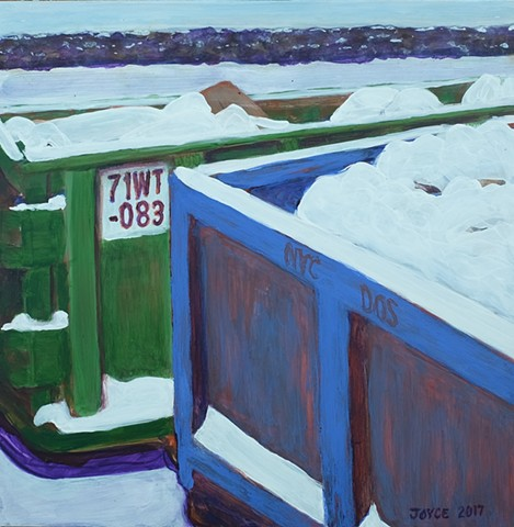 Green and Blue Dumpsters I (71WT-083)