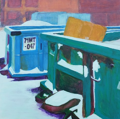 Green and Blue Dumpsters IV (71WT-047)