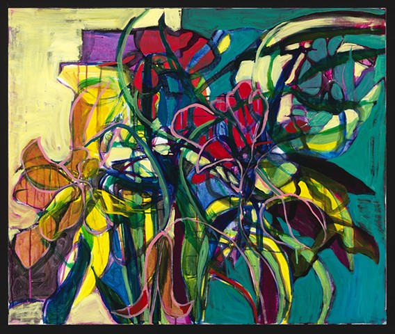 Stephanie Rose Bird fine art painting plants abstraction Chicago