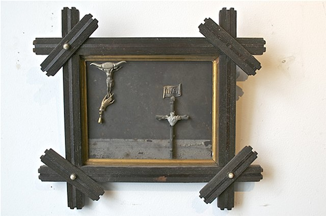 Michael Thompson Chicago artist, assemblage, collage, found object sculpture