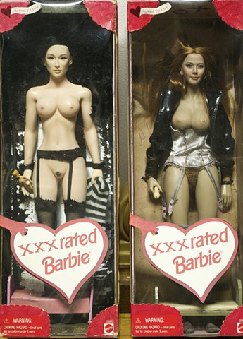 XXX-rated Barbie doll, naked Barbie doll, Michael Thompson Chicago artist