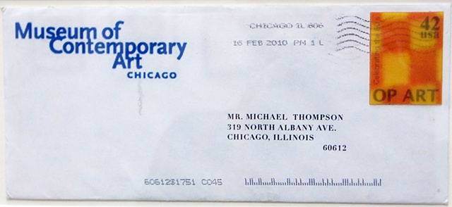 Lenticular, Lenticular Stamp, Fake Lenticular stamp, Op art, Michael Thompson Chicago artist