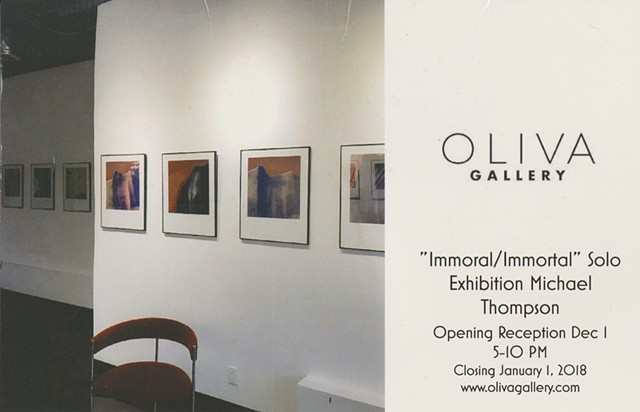 Oliva Gallery Chicago, Nude polaroids, polaroid photographs, Michael Thompson Chicago artist