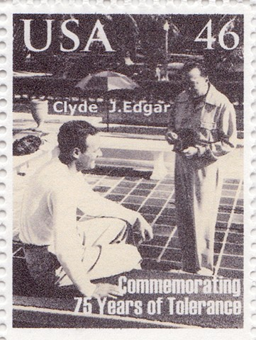 Michael Thompson Chicago artist, artistamps, edgar hoover postage stamp, j edgar hoover and clyde tolson, artistamps, fake stamps