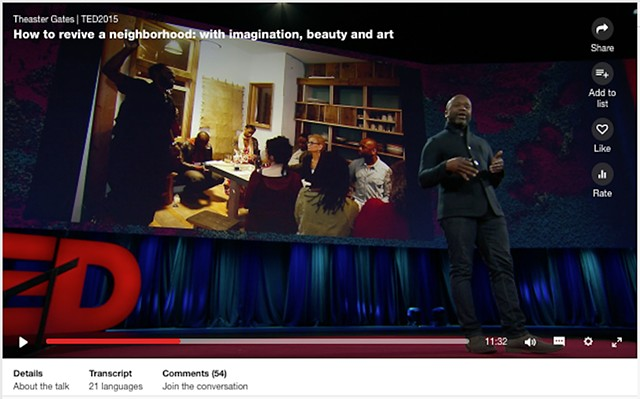 Ted Talk with Theater Gates