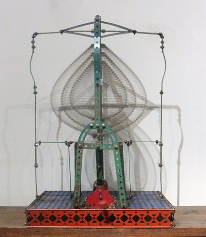 Michael Thompson Chicago artist, erector set sculpture, kinetic sculpture