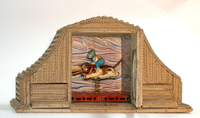Michael Thompson Chicago artist,assemblage, collage, found object sculpture, kinetic sculpture