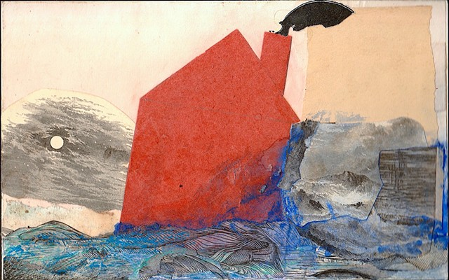 Michael Thompson Chicago Artist, collage, works on paper, mixed media