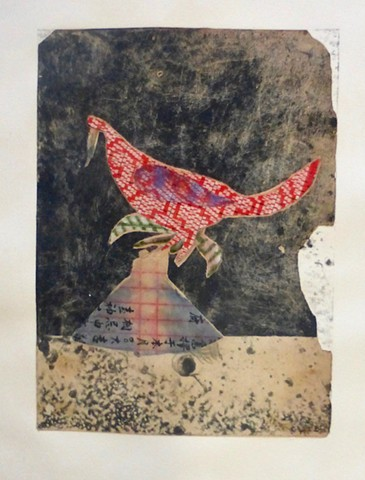 Michael Thompson Chicago artist, mono prints, collage