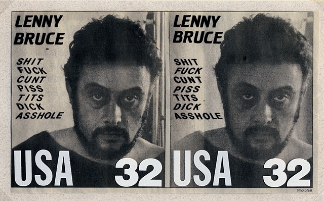 Michael Thompson Chicago artist, Lenny Bruce, Fake stamps