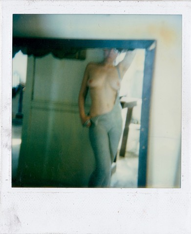 Polaroid photograph, color photograph, erotic photograph, nude polaroid