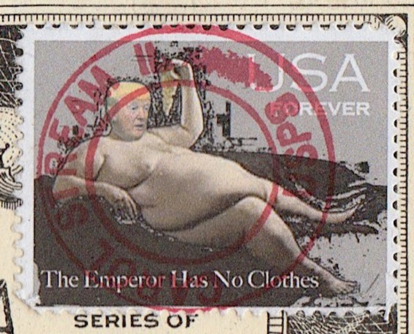 Michael Thompson Chicago artist, Artist Postcard, fake postage stamps. faux philately, artistamps
