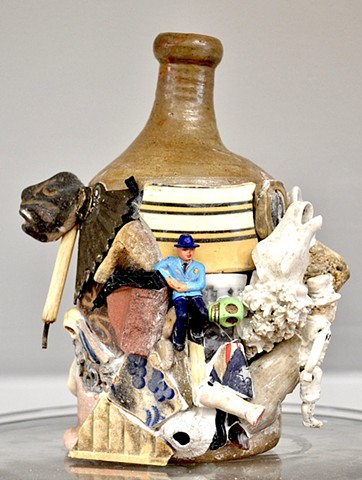 Michael Thompson Chicago artist, memory jug, mosaic, collage artist