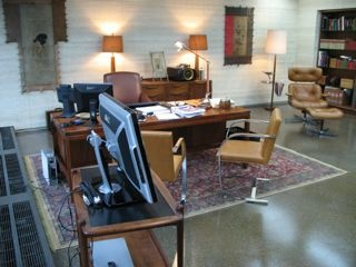 Michael Thompson Chicago artist, Morgan Freeman's office in Batman, The Dark Knight, Props from the Dark Knight Movie