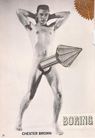 michael Thompson Chicago artist, collage, erotic art, homoerotic art