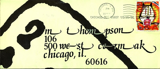 Michael Thompson Chicago artist , artistamps