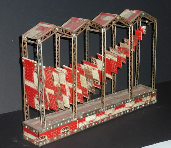 Michael Thompson Chicago artist, Kinetic sculpture, erector set sculpture