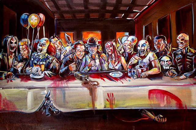 """Horror last supper"""