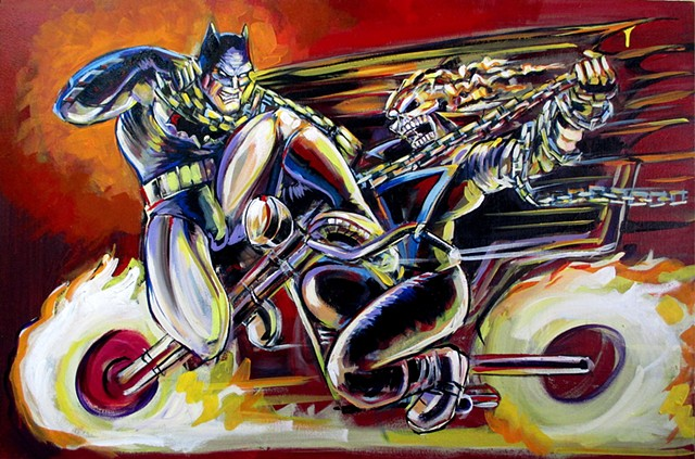 Batman vs. Ghostrider commission