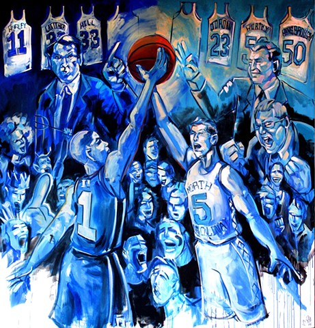 """Chapel Hill/ Duke Rivalry"" commission for Raycom sports NCAA 2014 ad"
