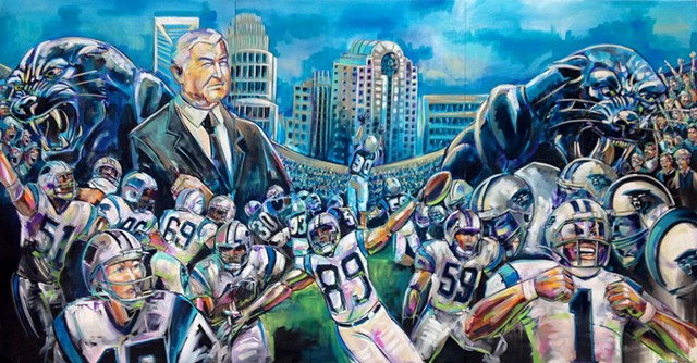"""Keep Pounding"" (Carolina Panthers 20th Anniversary commemorative painting)"