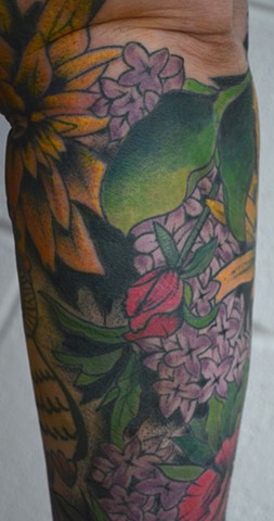 Botanical sleeve-- partly healed