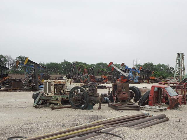 Pump Jack Scrap Yard Hays, KS