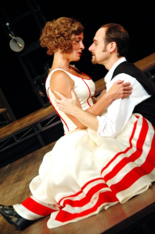 Kate (Carla Noack) and Petruchio (Christopher Gerson)