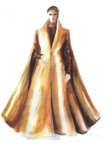 Richard in his gold robe