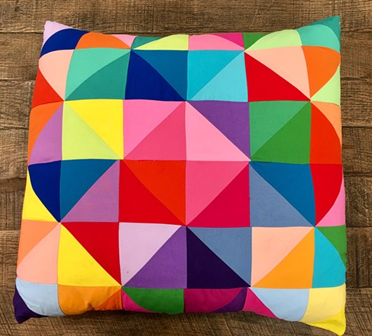 Half Square Quilted Pillow