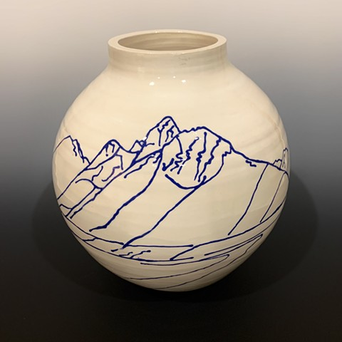Snake River Overlook Vase