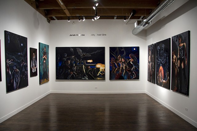 Installation view of Living Dead Girls at Linda Warren Gallery, April 2012.