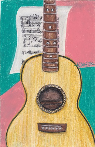 Guitar Oil Pastel | AVAILABLE
