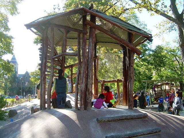 Gazebo | Black Locust Commissioned for Cambridge, MA Parks Dept. Installed at Cambridge Common