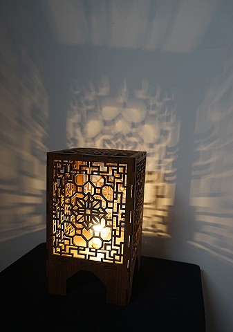 Geometric Lasercut Lamp