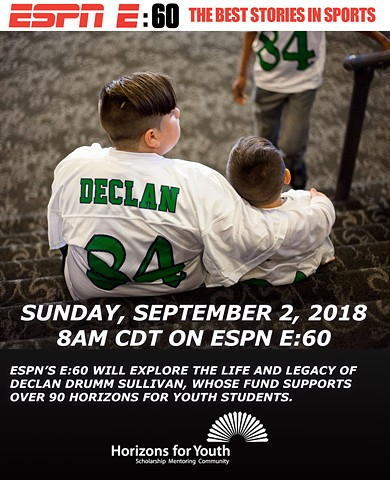 Social media post promoting ESPN E:60 episode