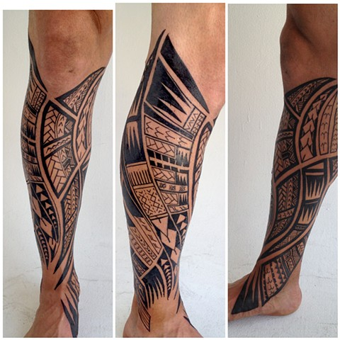 somoan leg tattoo