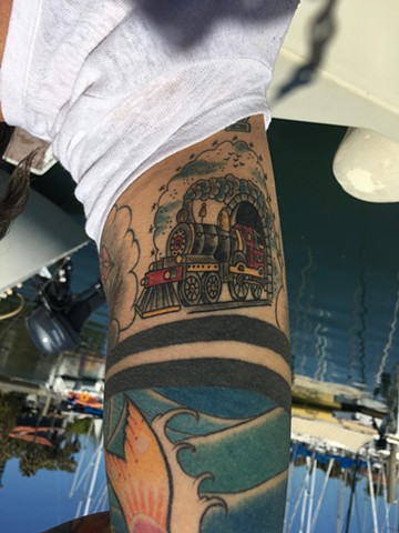 locomotive tattoo