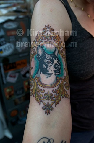 puppy portarail tattoo