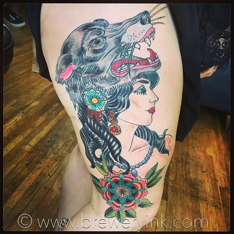 gypsy wolf tattoo