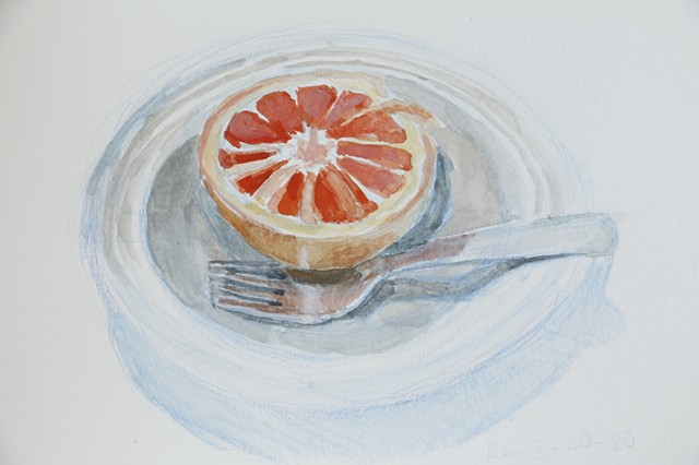 March 20/Grapefruit in Dish
